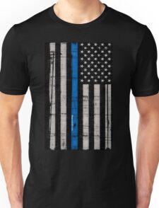 Police blue line Flag Unisex T-Shirt