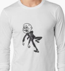 zombie funny comic suit Long Sleeve T-Shirt