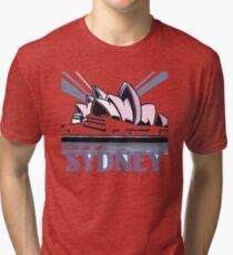 Opera House Sydney pop art design Tri-blend T-Shirt