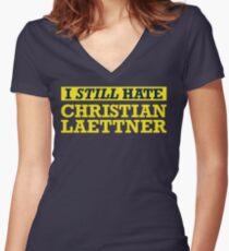 I STILL Hate Christian Laettner Women's Fitted V-Neck T-Shirt