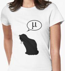 Physik Katze und Reibungskoeffizient Tailliertes T-Shirt für Frauen