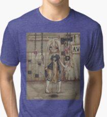 Asylum Park: The Meatery -zombie girl Tri-blend T-Shirt