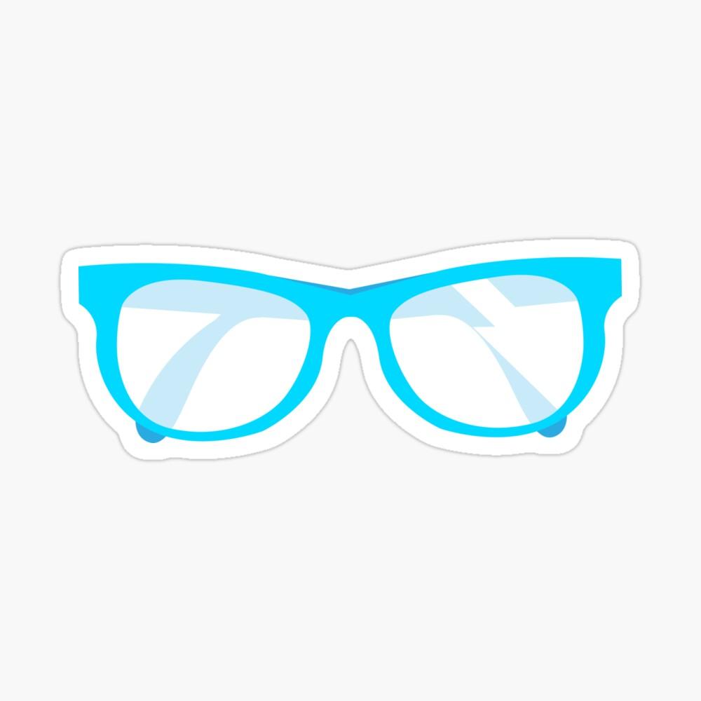 Blue Glasses Sticker