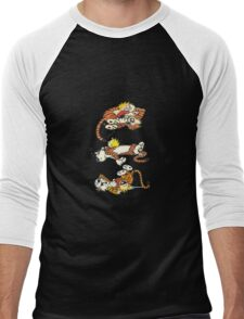 Calvin and Hobbes Cute  Men's Baseball ¾ T-Shirt