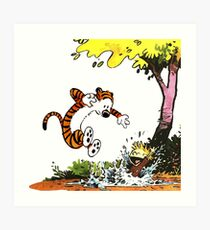 Calvin and Hobbes Playground Art Print