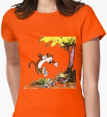 Calvin and Hobbes Playground Womens Fitted T-Shirt