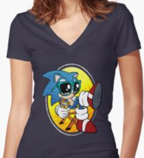 Sonic Chill Women's Fitted V-Neck T-Shirt