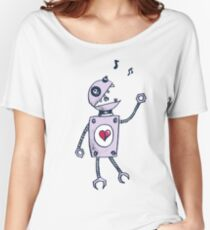 Happy Singing Robot Women's Relaxed Fit T-Shirt