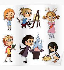Vector children set Poster