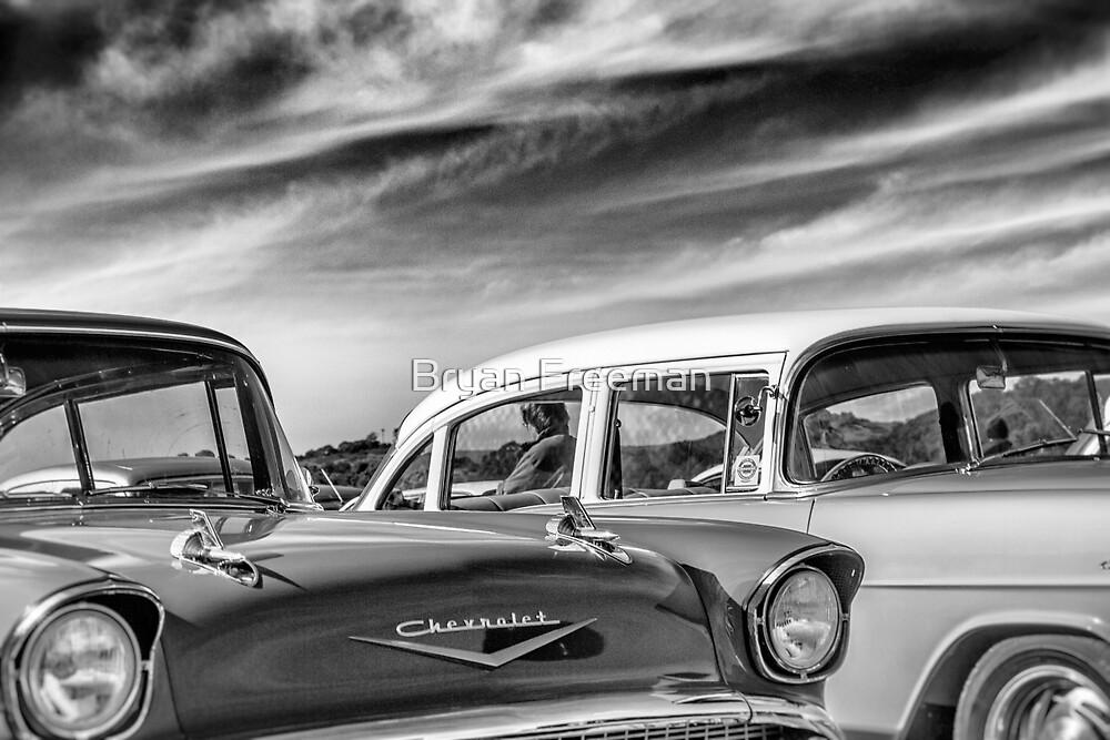 1957 Chevrolet - B&W by Bryan Freeman