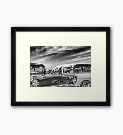 1957 Chevrolet - B&W Framed Print