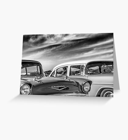 1957 Chevrolet - B&W Greeting Card