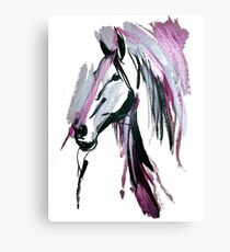 Pink horse Canvas Print