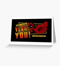 Crimson Complimenter Greeting Card