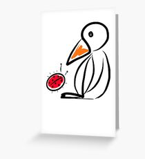 Penguin and ladybug Greeting Card