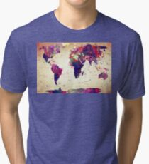 map  Tri-blend T-Shirt