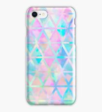 Pink pastel aztec pattern iPhone Case/Skin