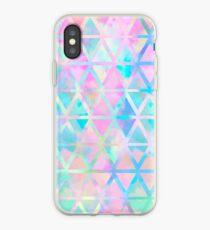 Vinilo o funda para iPhone Patrón azteca pastel rosa