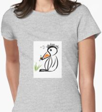 Penguin & bee Womens Fitted T-Shirt