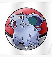 Nidoran (female) pokeball - pokemon Poster