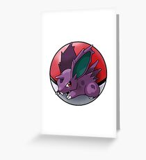Nidoran (male) pokeball - pokemon Greeting Card