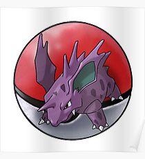 Nidorino pokeball - pokemon Poster