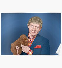 Martin Freeman with Puppy Poster