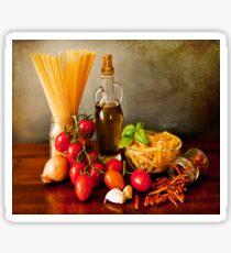 Italian pasta, arrabbiata sauce recipe Sticker