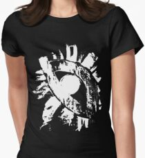 monochrome white eye on black background T-Shirt