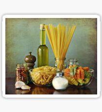 Aglio, olio peperoncino (garlic, oil, chili) noodles Sticker