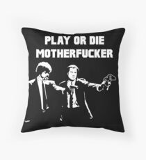 Lets play PULP FICTION Throw Pillow