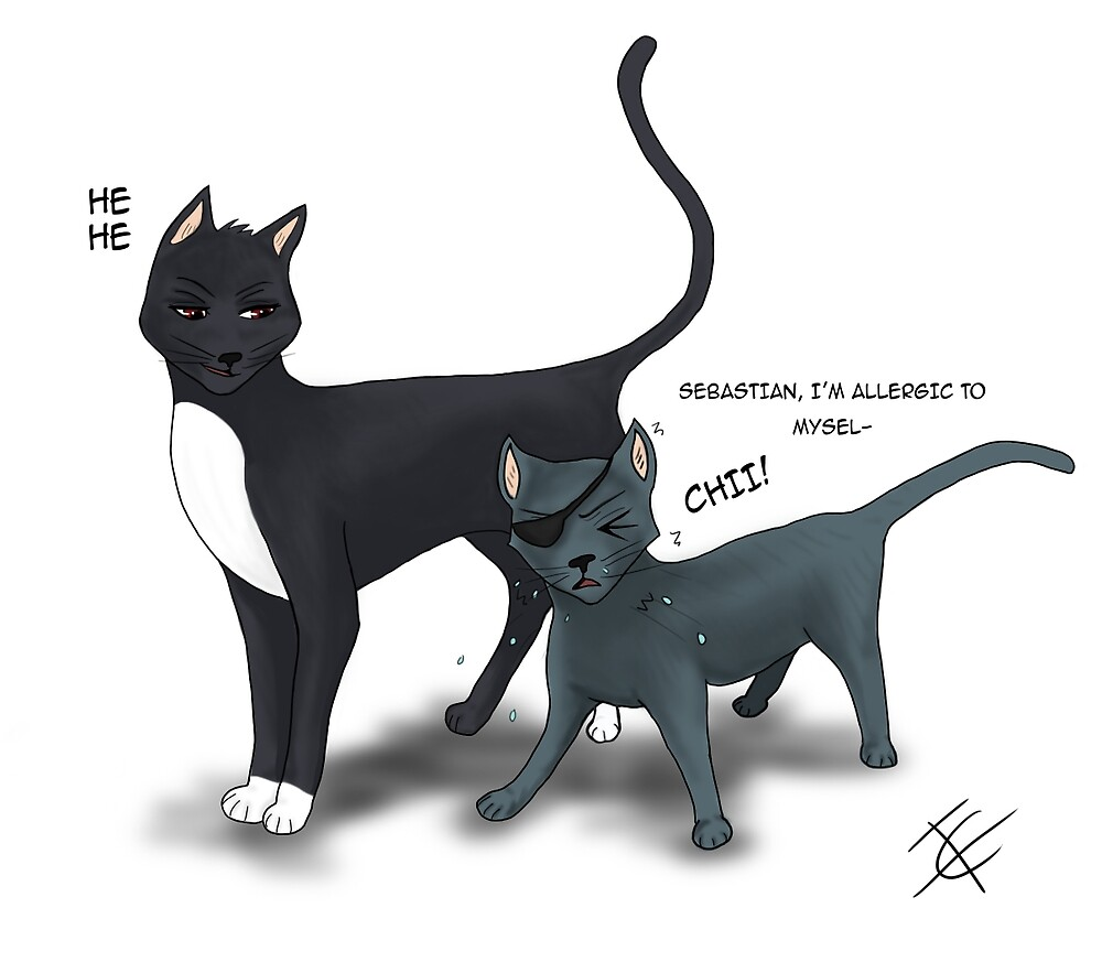 Black Butler Sebastian Cats