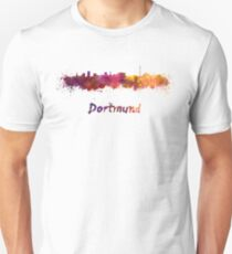 Dortmund skyline in watercolor Unisex T-Shirt