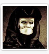 Spooky mask of Venetian tradition Sticker