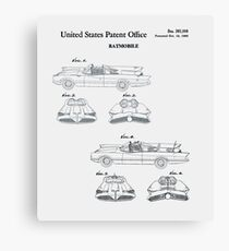 Batmobile Car Patent 1966 Canvas Print