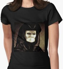 Spooky mask of Venetian tradition Women's Fitted T-Shirt