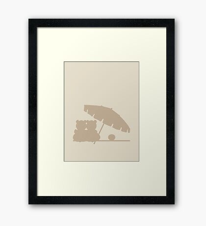 Love Bears on the Beach VRS2 Framed Print