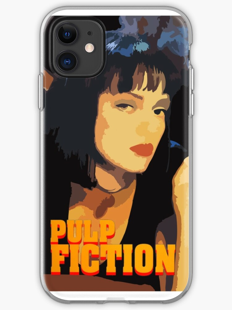pulp fiction mia poster iphone case
