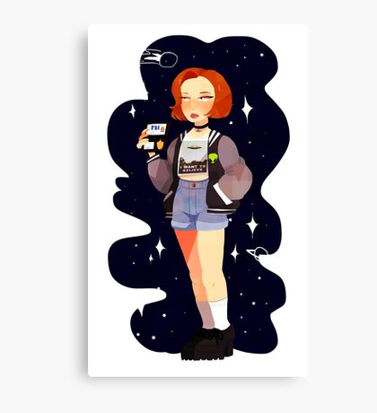 Super 90's Scully unlocked Canvas Print