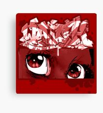 Graffiti WATCH (red) Canvas Print
