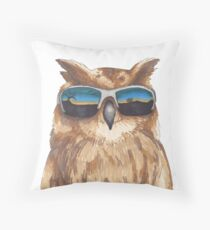 Shady Owl Throw Pillow