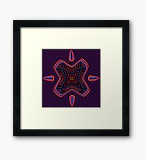 Neon Particle Framed Print