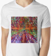 colourful peace Men's V-Neck T-Shirt