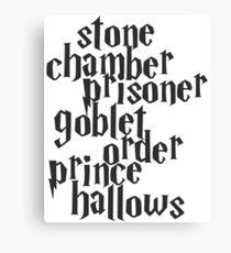 Stone Chamber Prisoner Goblet Order Prince Hallows Canvas Print