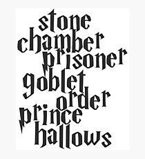 Stone Chamber Prisoner Goblet Order Prince Hallows Photographic Print