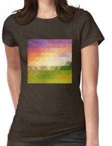 rhombic texture sunset Womens Fitted T-Shirt