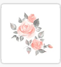 Beautiful roses. Hand-drawn  watercolor flowers  Sticker