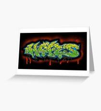 Graff Hype Greeting Card