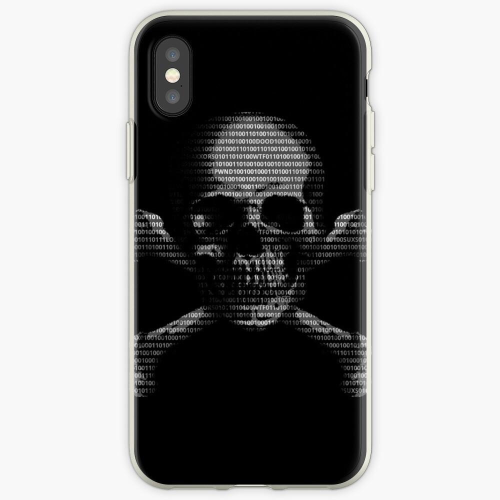 Hacker-Schädel iPhone-Hülle & Cover