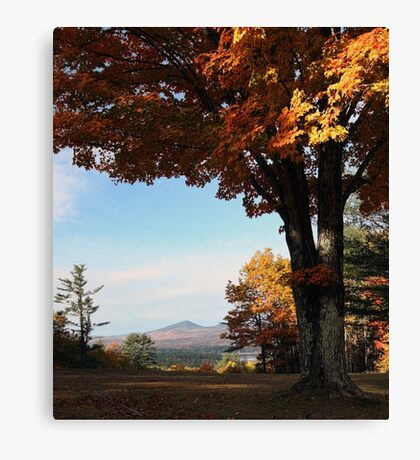 Autumn - View of Mt. Kearsarge & Kezar Lake Canvas Print